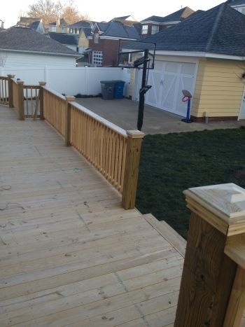 Before Front Porch/Deck Staining
