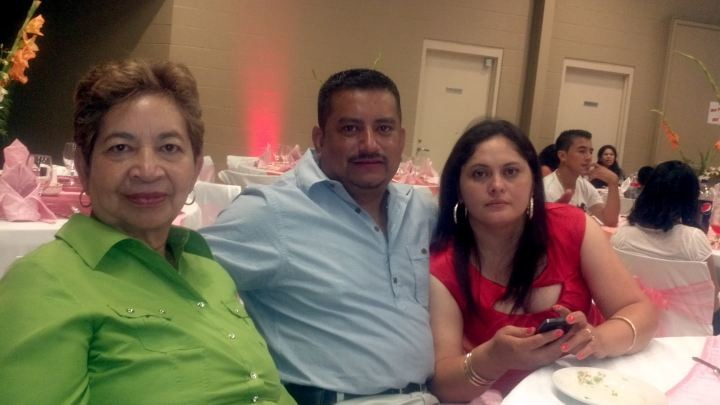 Franklin Zelaya with his family