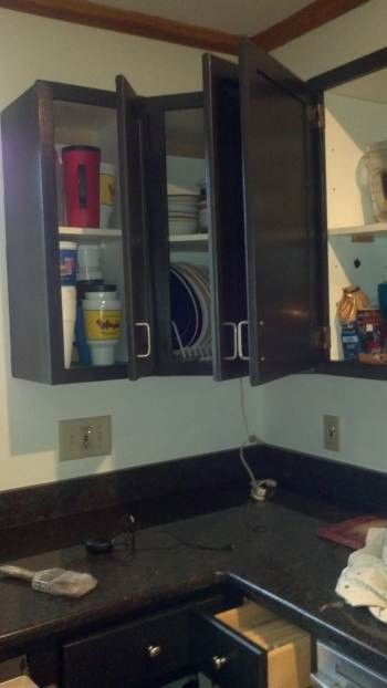 Freshly painted Kitchen Cabinets for Miss Mandy in Concord, NC