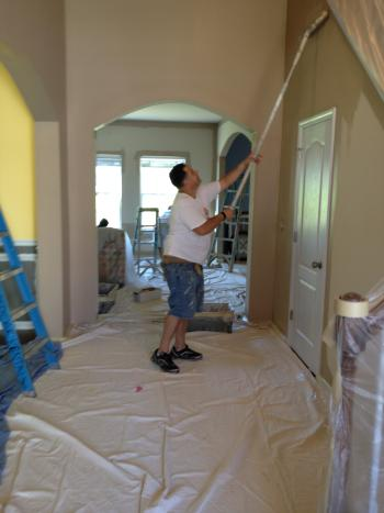 Interior Painting in progress by Zelaya Jr Painting