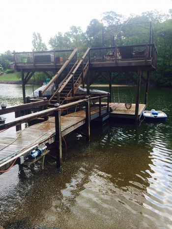 Dock Power Washing and Staining