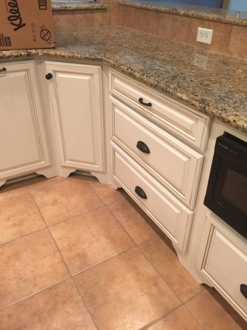 Before and After Kitchen Cabinet Painting in Indian Land, SC