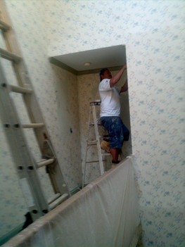 Wallpaper removal in a Charlotte NC home.